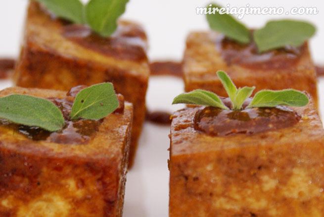 Tofu Relleno De Salsa De Almendras Y Miso Receta Vegana